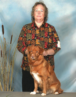 Barb Rohr and Toller dog