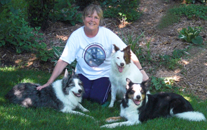 Dianne White & Border Collie