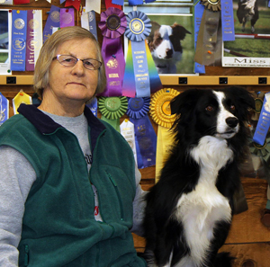 Eileen Varhalla and Border Collie