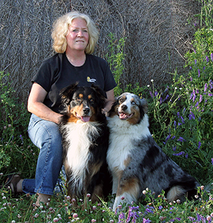 Grete Krause and Australian Shepherds