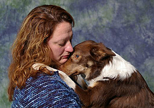 Jacque Hoye and Border Collie Sizzle