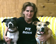 Laurie Hocking and Pit Bulls
