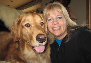 Toni Ketola and Golden Retriever Cedar